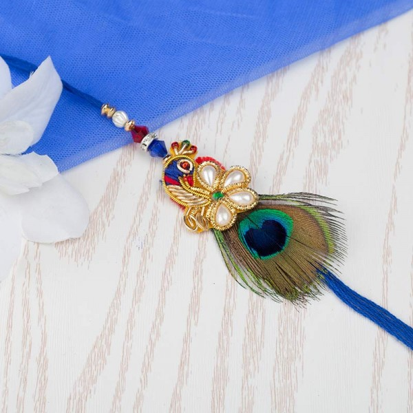 Dancing Peacock Rakhi