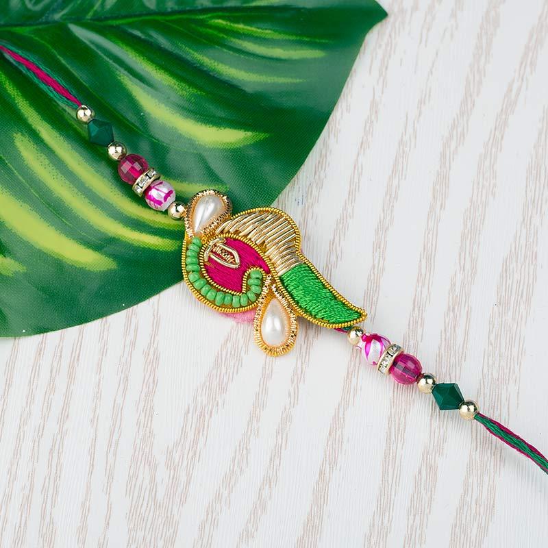 Pink and Green Rakhi