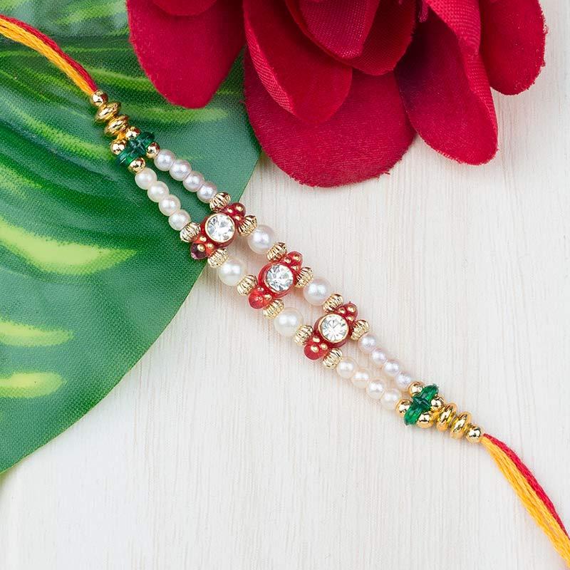 Pearl White Rakhi