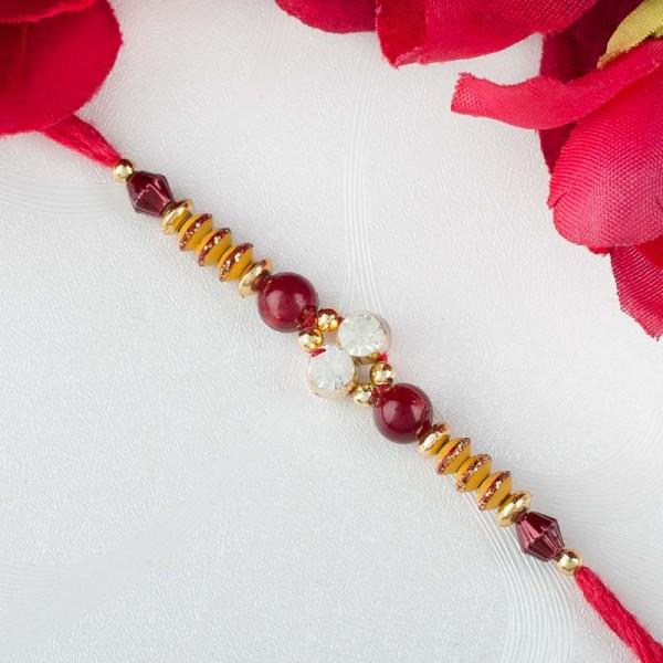 Red and Gold Rakhi