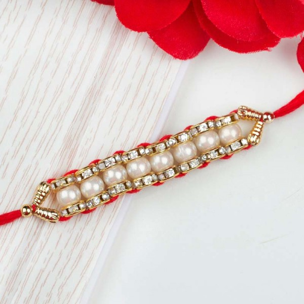 Red Pearl Rakhi
