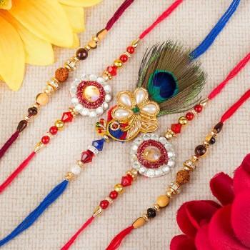 Buy Set Of 5 Rakhi Online