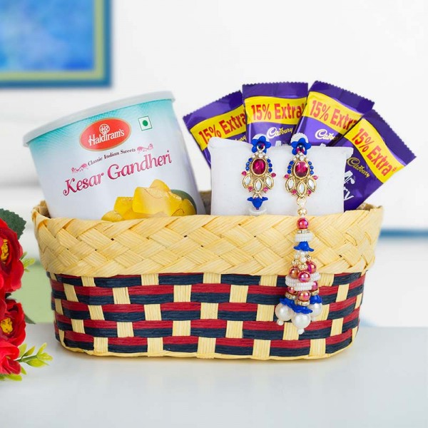 Sweet Double Rakhi Basket