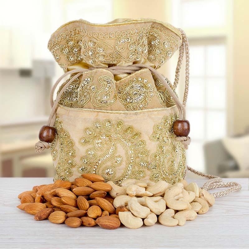 Almond n Cashew Nut Potli