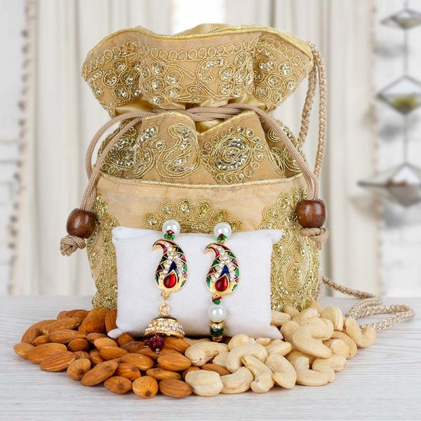 Dry Fruits Rakhi Set