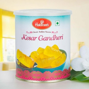 Haldiram Kesar Ghandhari Tin Pack 1 Kg