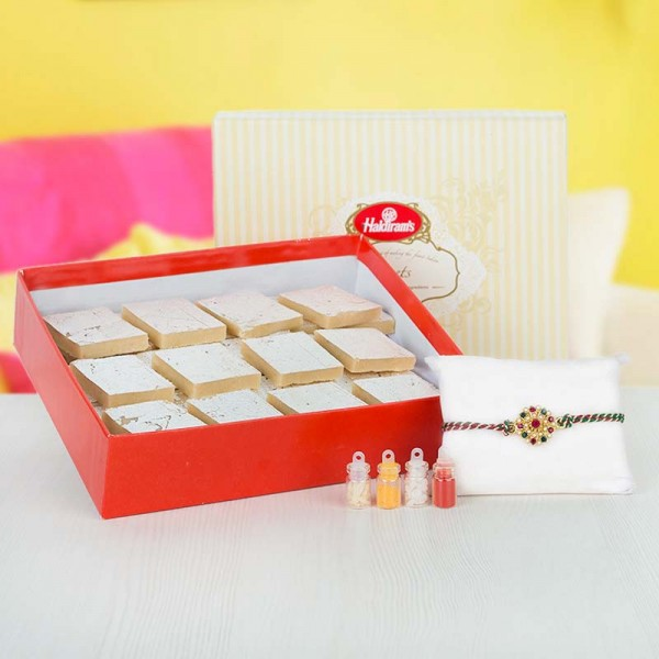 Chandan Mishri Rakhi Set