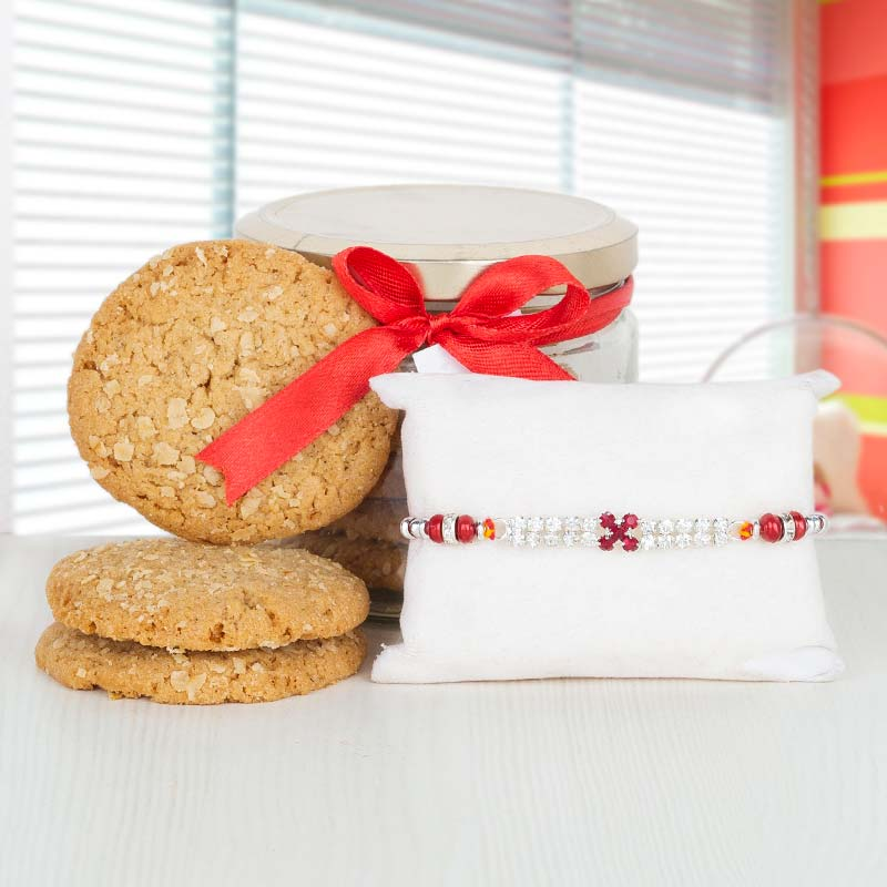 Cookies with Stud Rakhi