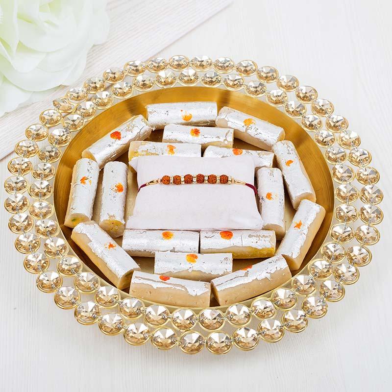 Golden Rudraksha Thali