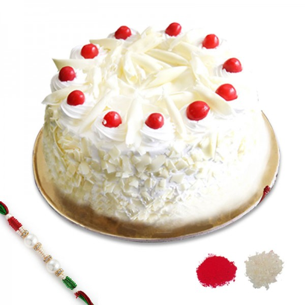 White Forest Rakhi Combo