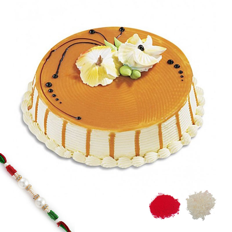 5 Star Butterscotch Cake with Rakhi