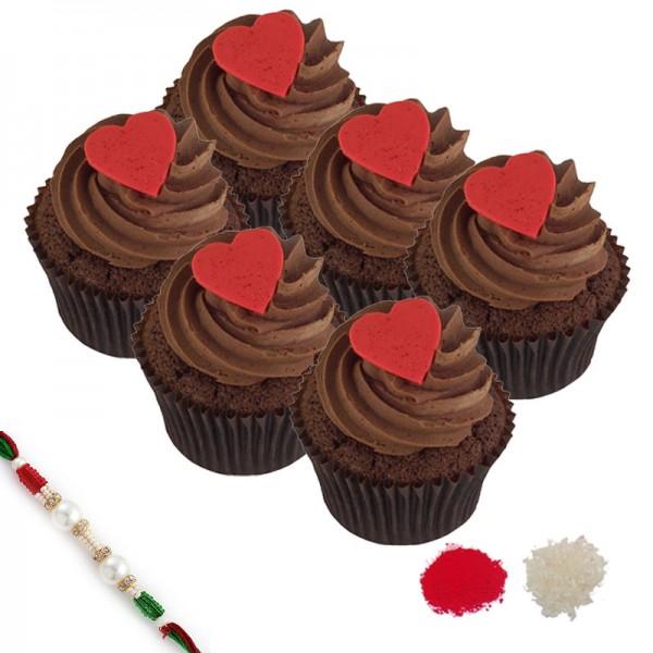 Chocolate Cupcake Rakhi Hamper