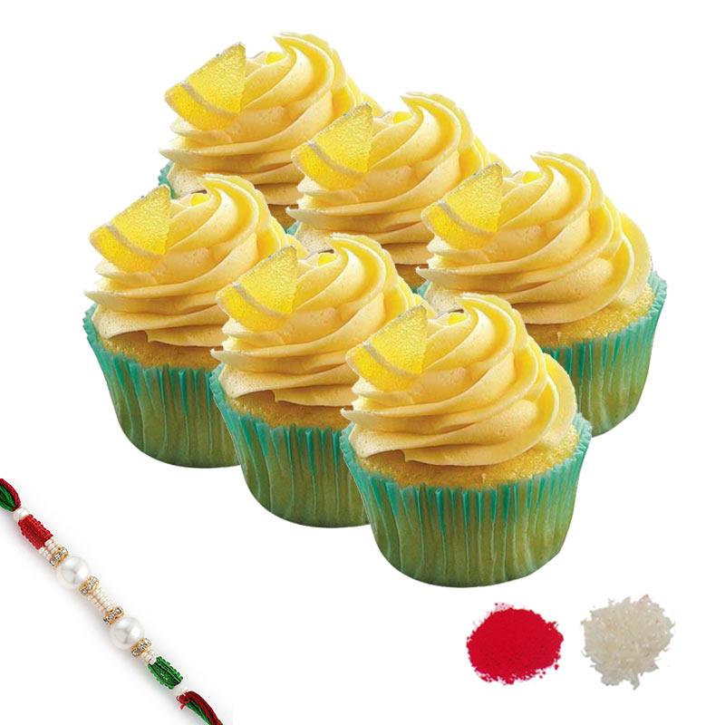 Lemonade Cupcake Rakhi Hamper