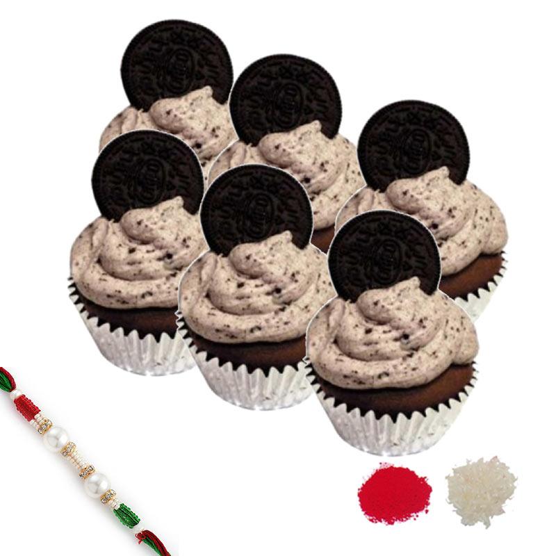 Oreo Cupcake Rakhi Hamper