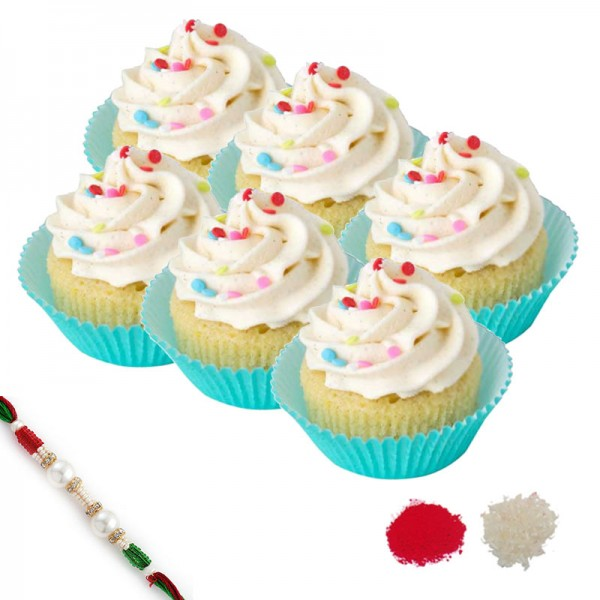 Vanilla Cupcake Rakhi Hamper