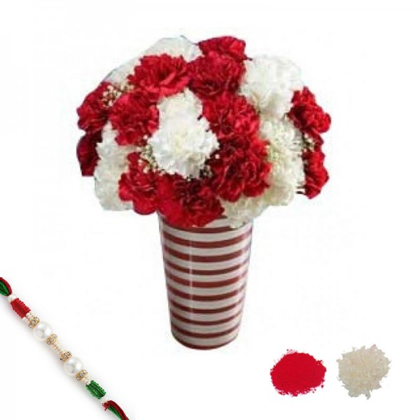 Holiday Carnations with Rakhi