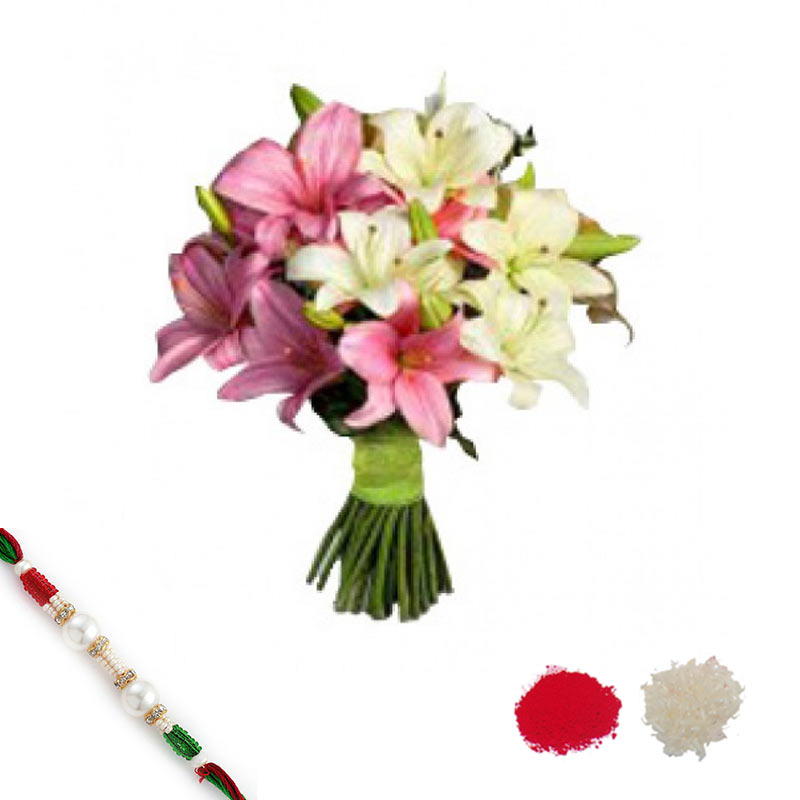 Fantastic Lilies with Rakhi