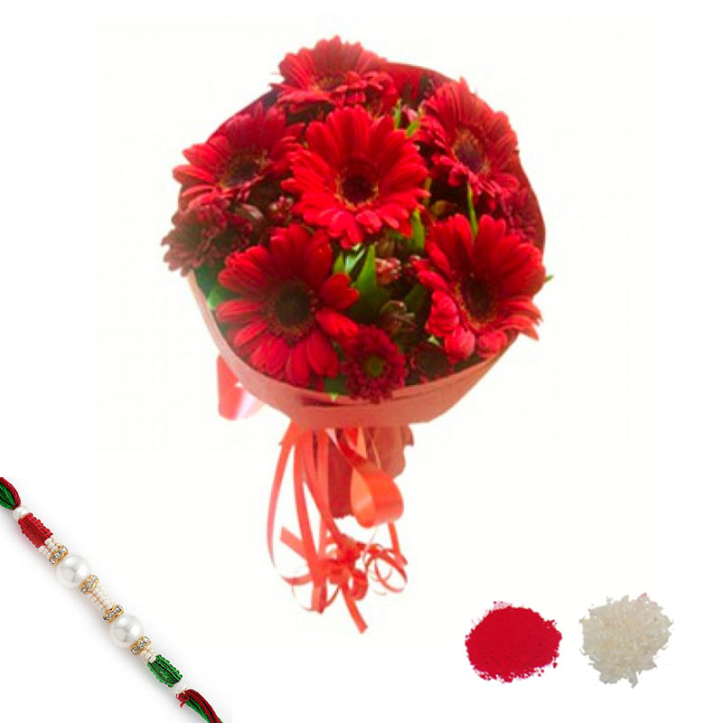 Rakhi with Red Beauty