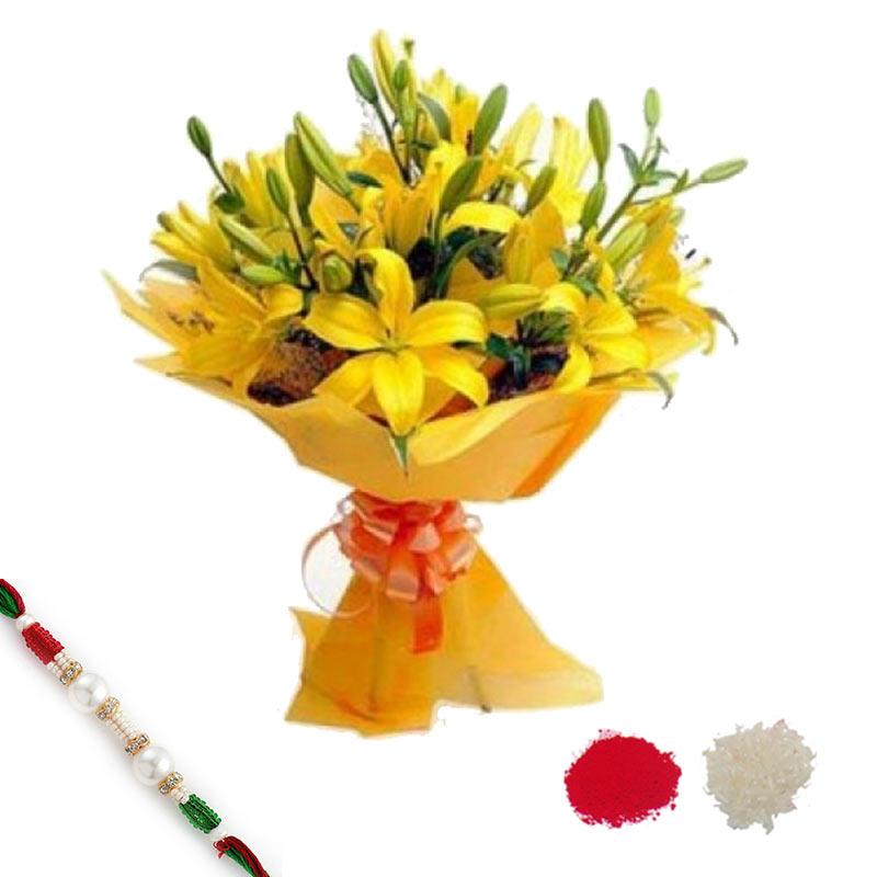 Sunshine Lilies with Rakhi