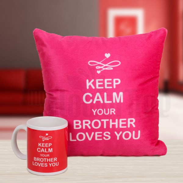 Printed Mug and Cushion for Sister