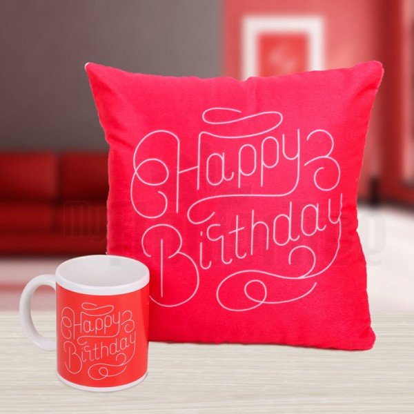 Mug and Cushion for Birthday