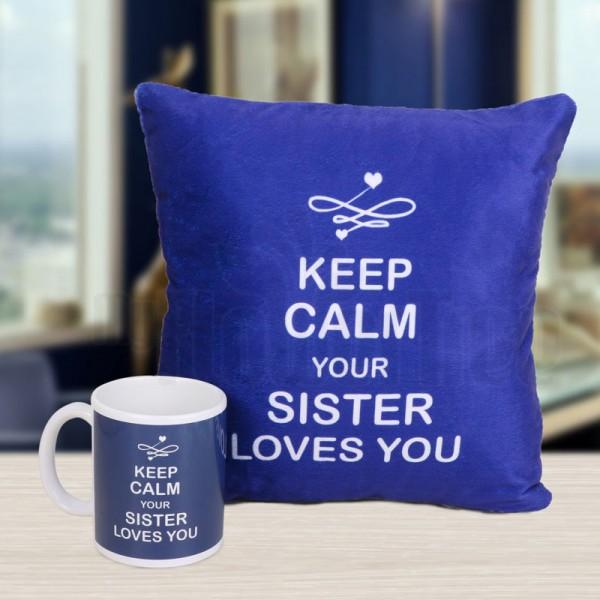 Printed Mug and Cushion for Brother