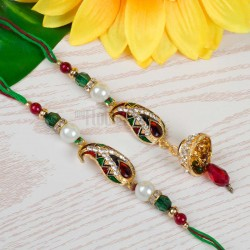 Pearl Ruby Rakhi Set