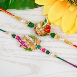 Flower Rakhi Duet