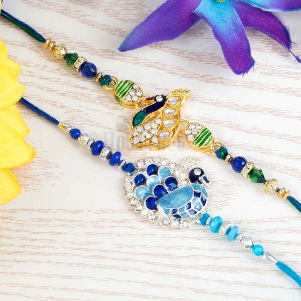Royal Peacock Rakhi Duet