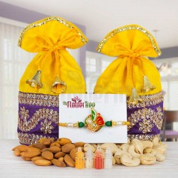 Online Rakhi with Dry Fruits Hampers