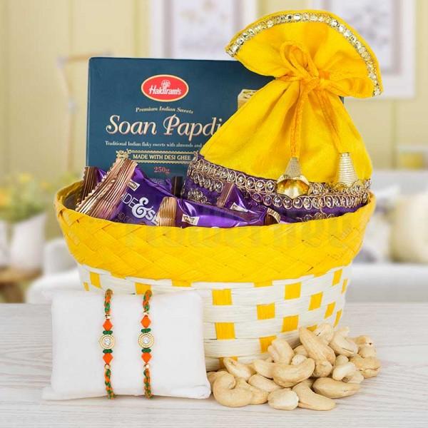 Special Rakhi Basket