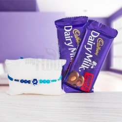 Same Day Rakhi with Chocolate Delivery