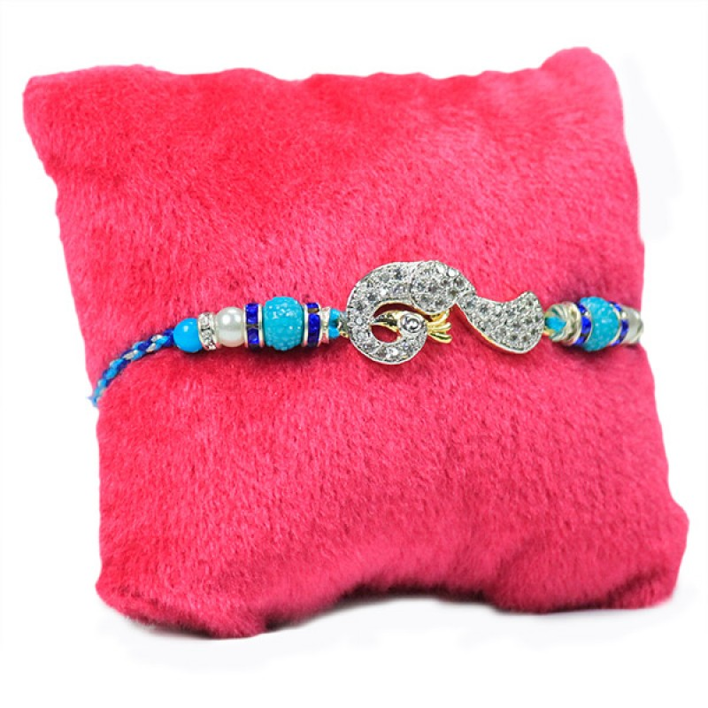 Splendid Traditional Peacock Rakhi