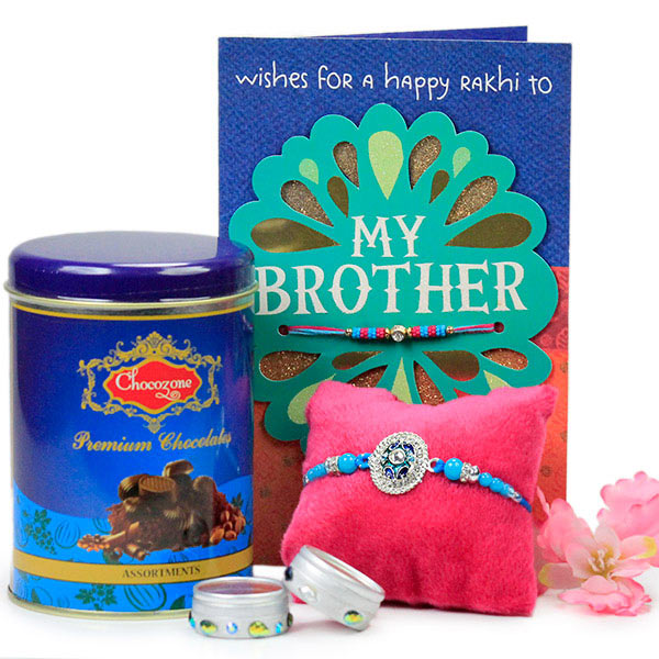 Premium Chocolates n Rakhi Hamper