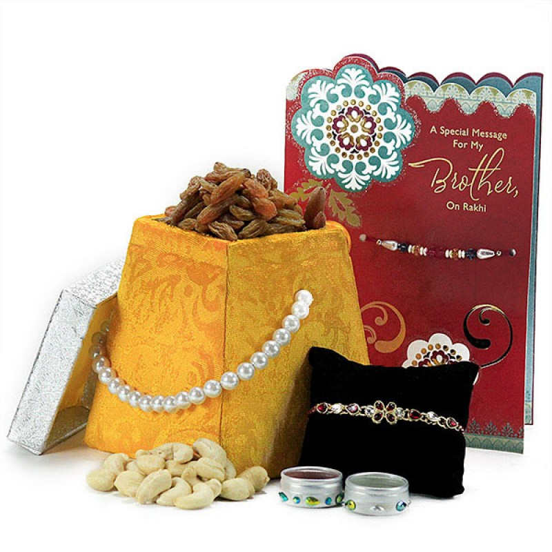 Dryfruits and Beautiful Rakhi Hamper