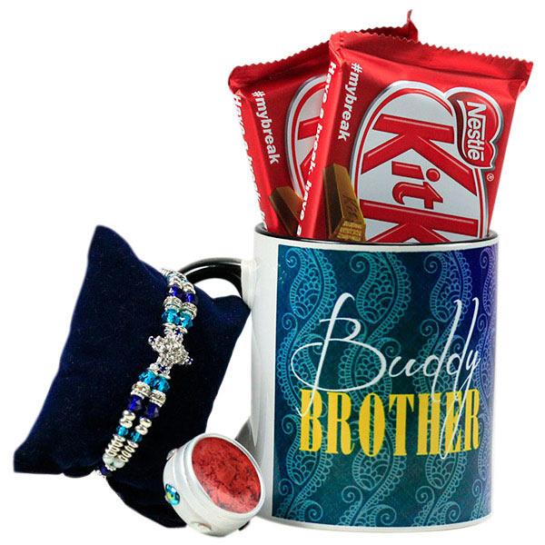 Buddy Brother Mug n Rakhi Hamper