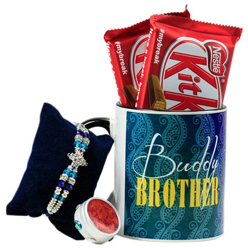 Buddy Brother Mug n Rakhi Hamper