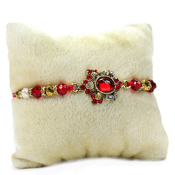Stone Embellished Beautiful Rakhi