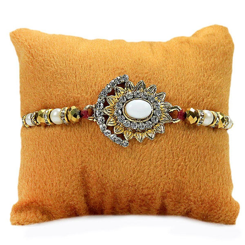 Traditional Stone Studded Rakhi