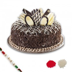 Sameday Delivery Rakhi With Cake Online