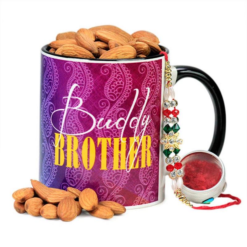 Traditional Rakhi and Buddy Brother Mug