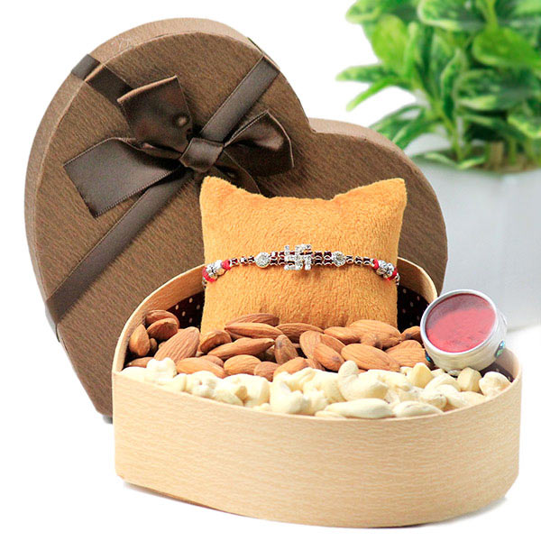 Dryfruits and Swastika Rakhi Hamper
