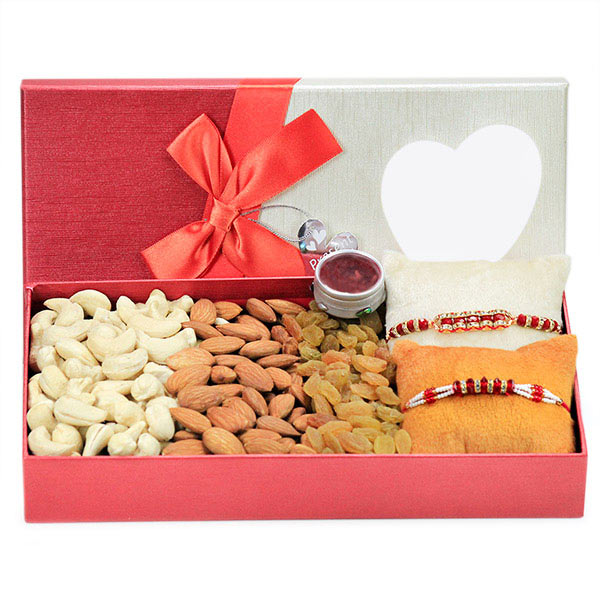 Traditional Rakhis and Dryfruits Hamper