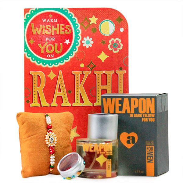Weapon Perfume n Traditional Rakhi Hamper