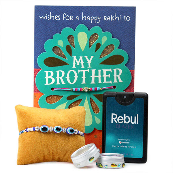 Evil Eye Rakhi n Card Hamper