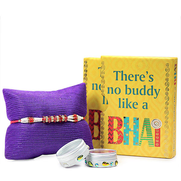 Traditional Rakhi with Quotation Book