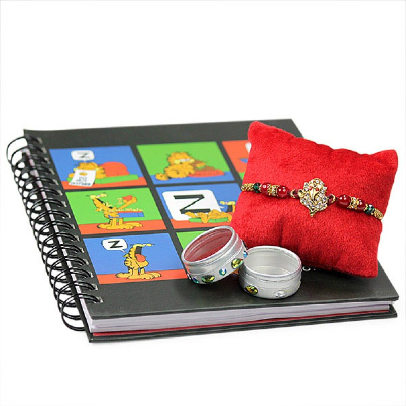 Ganesh Rakhi n Garfield Notebook
