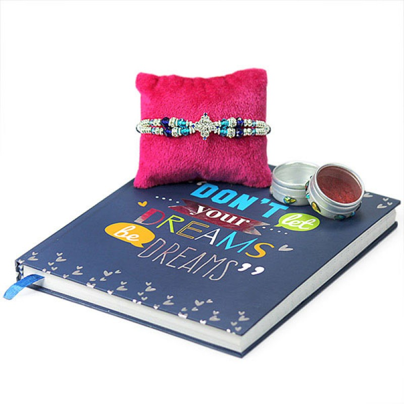 Traditional Rakhi n Notebook Hamper