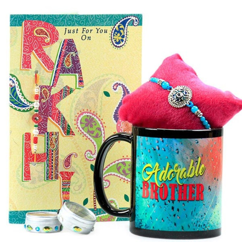Adorable Brother Mug n Rakhi Hamper