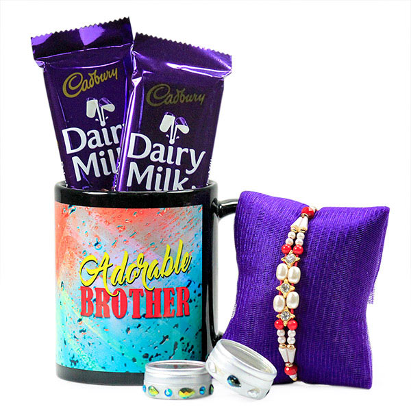 Traditional Rakhi n Stylish Mug Hamper